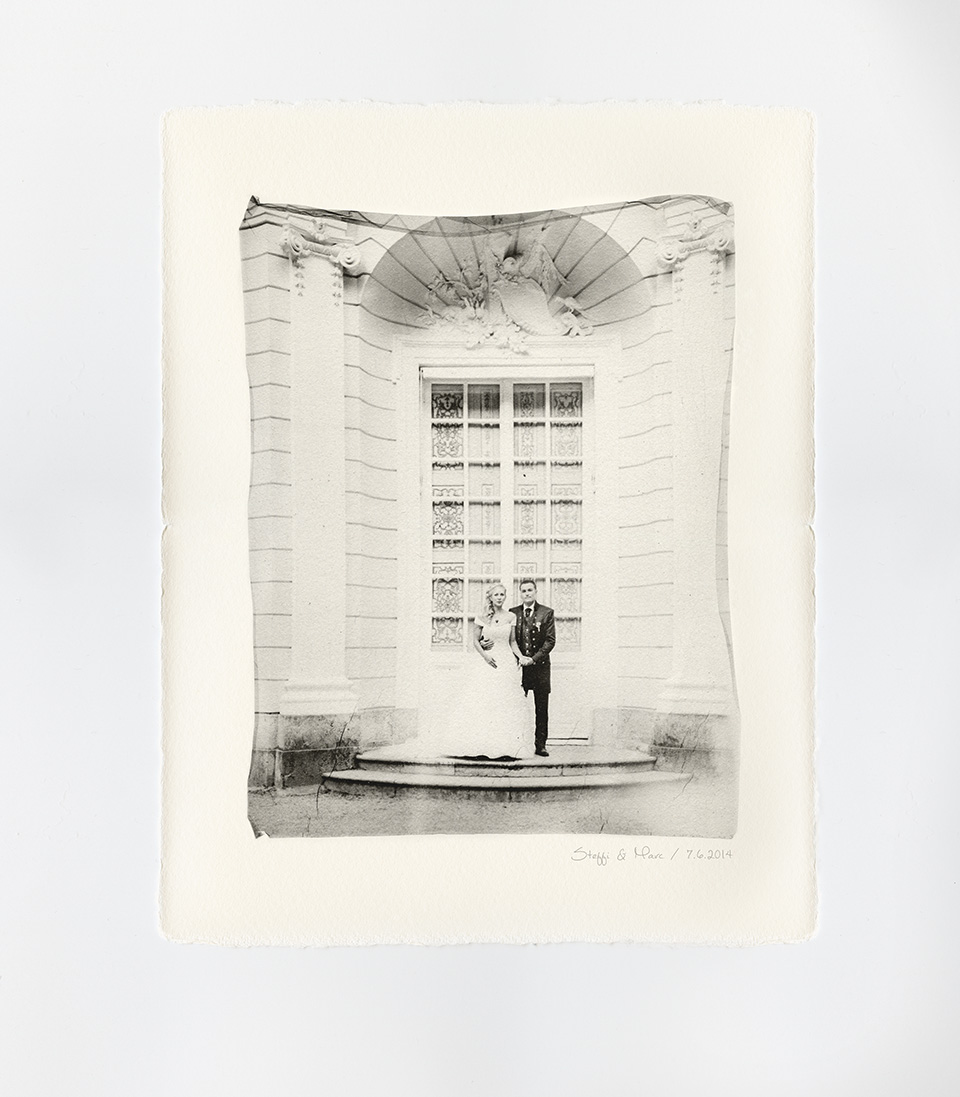 Emulsion lift 8x10 Polaroid